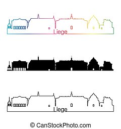 Liege skyline linear style with rainbow.eps