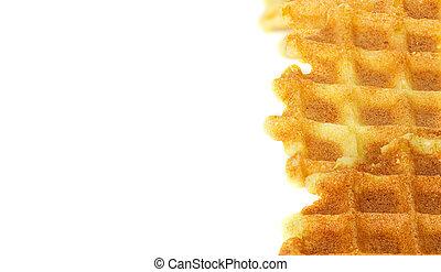 Liege waffles background