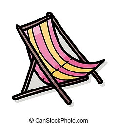 liegestuhl, farbe, gekritzel