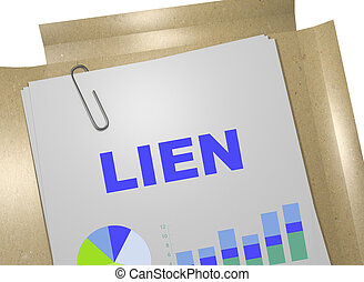 Lien - business concept