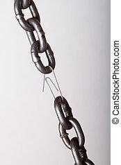 lien, chaîne, plus faible