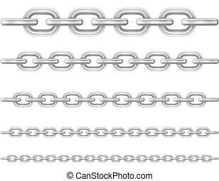 liens, chaîne métal, illustration, vecteur
