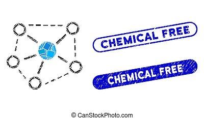 liens, timbres, chimique, mosaïque, gratuite, molécule,...