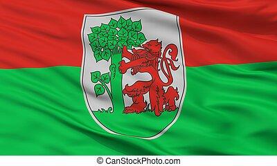 Liepaja City Flag, Latvia, Closeup View - Liepaja City Flag,...