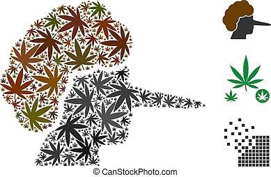 Lier Collage of Marijuana - Lier collage of marijuana leaves...