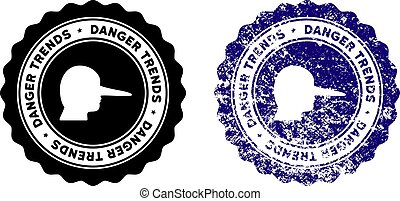 Lier Danger Trends Stamp with Grungy Style - Lier Danger...