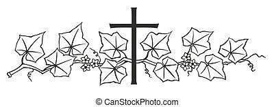 lierre, et, croix