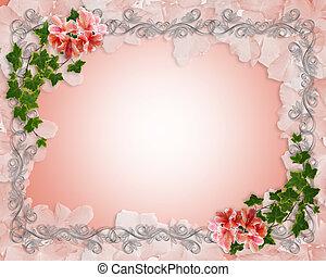 lierre, invitation, frontière, floral