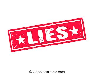 lies red stamp style