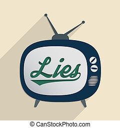 Lies - Concept for mass media, disinformation, propaganda...