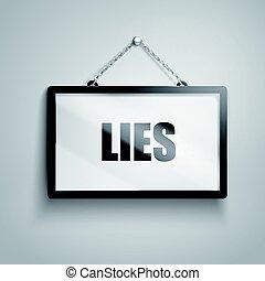 lies text sign