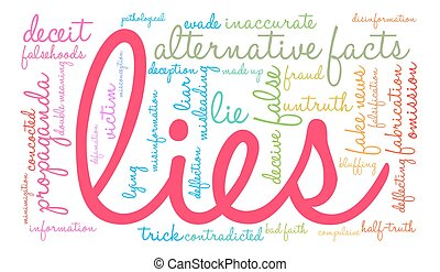 Lies Word Cloud - Lies word cloud on a white background.