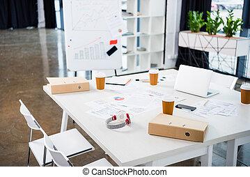 Café bureau écouteurs ordinateur portable lieu travail bureau
