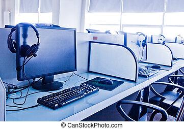 lieu travail, bureau