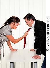 lieu travail, conflit