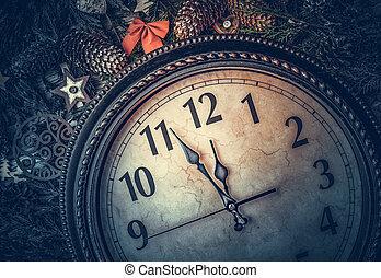 life., ρολόι , καινούργιος , αποδεικνύω , γριά , midnight., ακίνητο , έτος