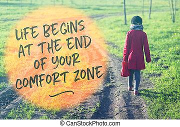 life begins going away