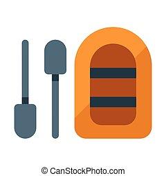 Life boat flat illustration