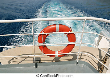 A life buoy for safety at ship deck