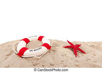 Life buoy at the beach