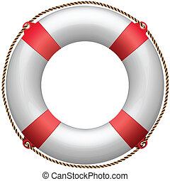 life buoy against white background, abstract art...