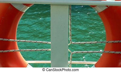 Life Buoy Emergency Safety Protection on Ferryboat