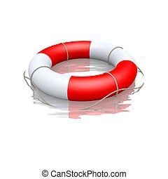 life buoy floating in water