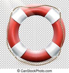 Life buoy isolated on transparent. EPS 10 - Life buoy...