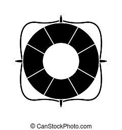 life buoy marine symbol pictogram