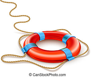life buoy rescue ring helps euro currency sign crisis concept