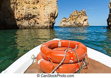 Life-buoys in the sea