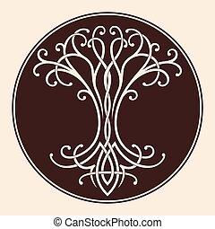 life., celtique, arbre