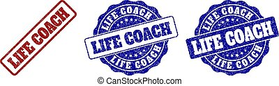 LIFE COACH Scratched Stamp Seals