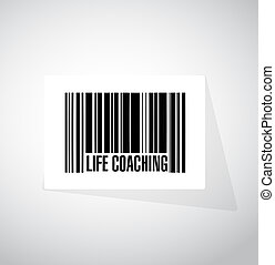 life coaching barcode sign icon concept