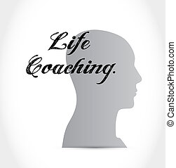 life coaching head sign icon concept