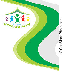 Life community card template for multiple use.
