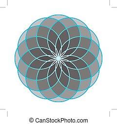 life., fleur, sacré, geometry.