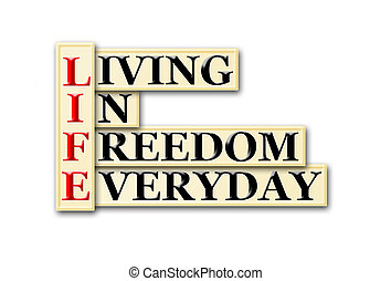 life freedom - Acronym concept of Life and other releated ...