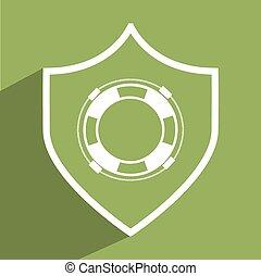 life guard design, vector illustration eps10 graphic