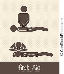 life icons - Illustration of Life icons, first aid symbol, ...