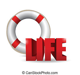 life illustration design over a white background