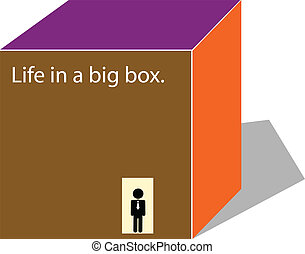 life in a box.vector illustration