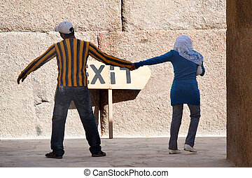 Life in Egypt in Africa. People in everyday life.