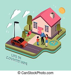 life in countryside concept