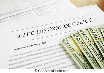 Life insurance policy and cash