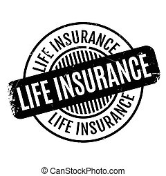 Life Insurance rubber stamp. Grunge design with dust scratches. Effects can be easily removed for a clean, crisp look. Color is easily changed.