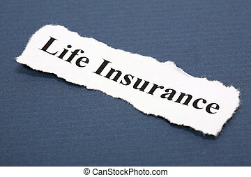 Life Insurance - Headline of life Insurance with blue...