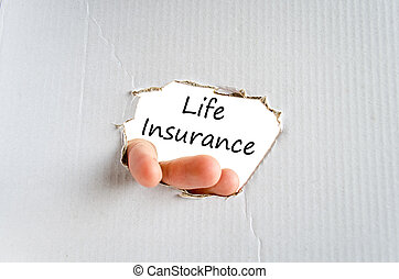 Life insurance text concept