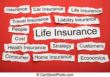 Life Insurance Text On Piece Of Torn Paper