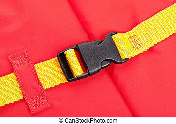 Life Jacket Buckle close up